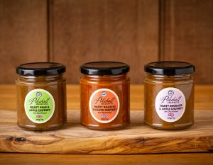 Three Pikehall Preserves Chutneys