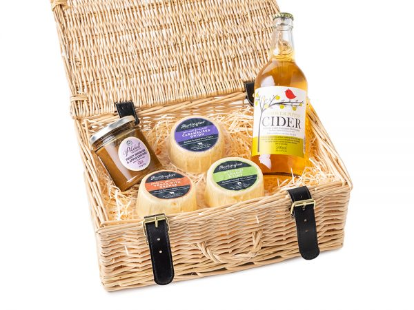 The Dales Cheese Ale or Cider Selection Cider - Wicker Hamper