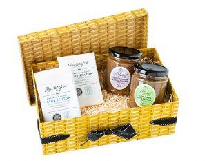 Hartington Best Sellers Cheese Wedges & Pikehall Chutney - Faux Hamper