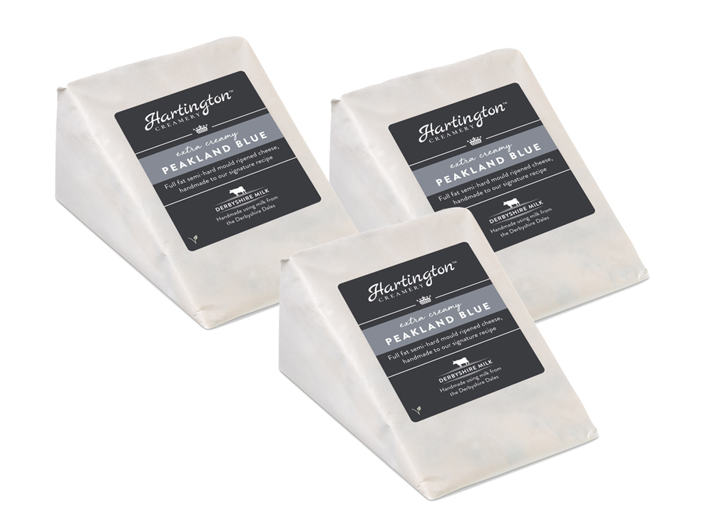 3 x Hartington Creamery Peakland Blue Cheese