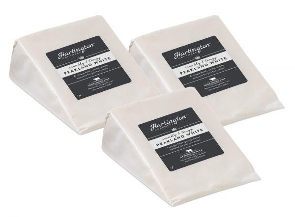 3 x Hartington Creamery Peakland White Cheese